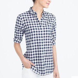 J. Crew Gingham Classic Button Down, Boy Fit
